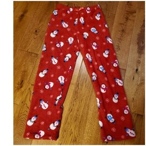 Faded Glory sz XL snowman & snowflake pj pants